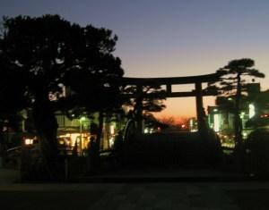 blurry torii gate