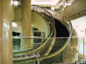 amazing curved escalator other side