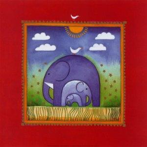 """""""elephants"""" by Linda Edwards"""