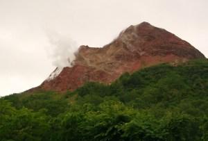 volcanic activity somewhere in Hokkaido