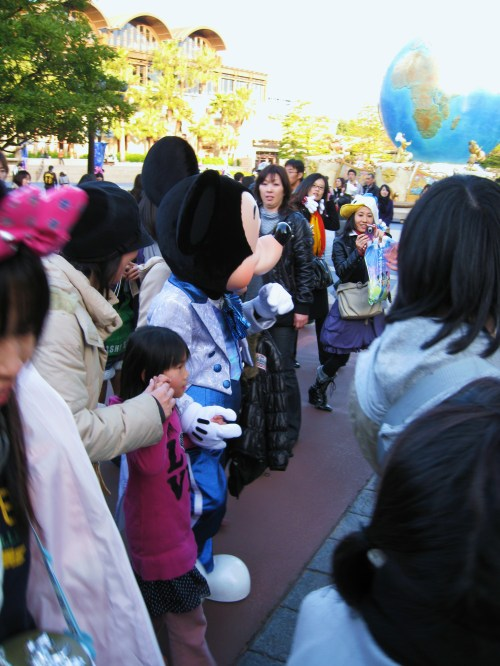Mickey getting mobbed