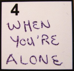 """""""When You're Alone"""" from Kelly Pettit's """"FUEL"""""""