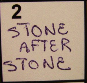 """""""Stone After Stone"""" from Kelly Pettit's """"FUEL"""""""
