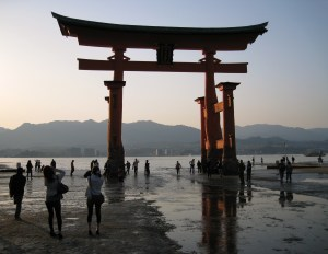 the floating torii that wasn't floating at this time