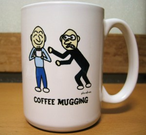 a coffee mugshot