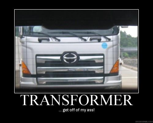 Transformer Men seem popular in Thailand